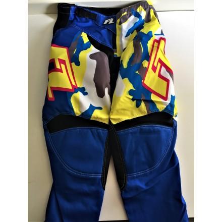 Pantalon Camo Bleu / Jaune 32