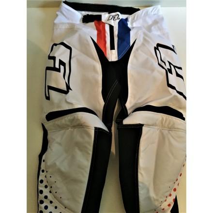 Pantalon Sleek Blanc / Bleu / Orange 34
