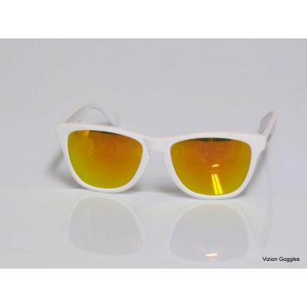 Lunettes de soleil Tidy Blanc / Gold