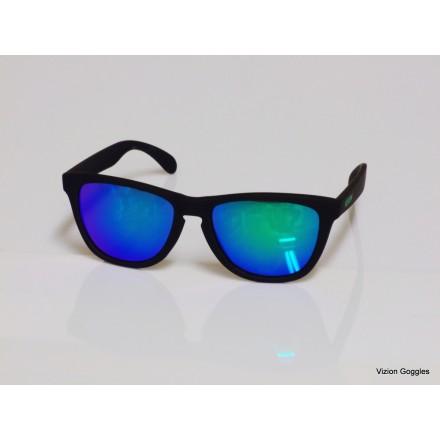 Lunettes de soleil Tidy Noir / Bleu